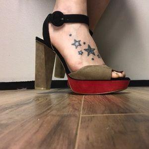 Zara women platform sandals